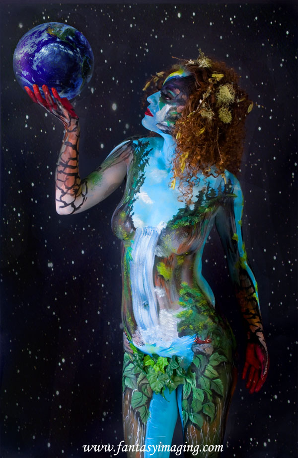 The Northwest's premier model Yulia in full bodypaint as Mother Nature